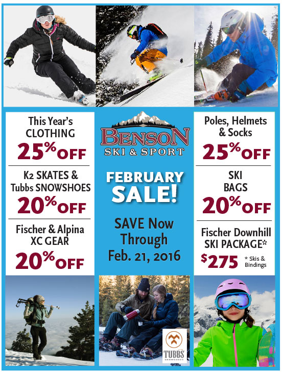 Mid-Winter Sale at Benson's Ski & Sport