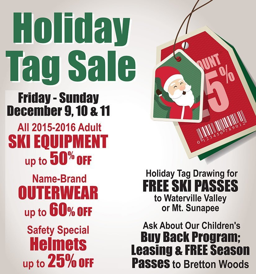 Holiday Tage Sale
