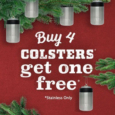 YETI Colsters Buy 4 Get 1 Free