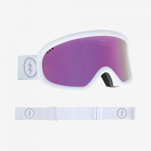 Electric Chrger Goggles Matte White/Pink Chrome